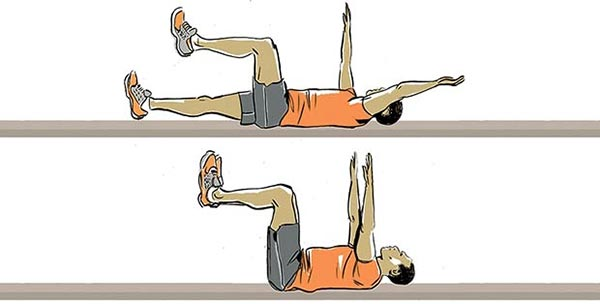 Dead Bug- حرکات ورزشی- برنافیت
