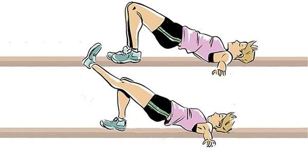 Single-Leg Bridge- حرکات ورزشی- برنافیت