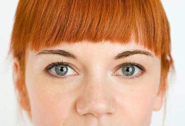 چشم های زیبا- رنگ ابروی هماهنگ با رنگ موها- برنافیت