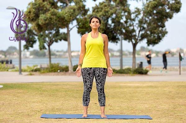 ده دقیقه تمرین پایه ای یوگا ، به شکل یک کوه