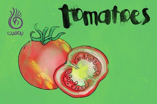 غذاهایی مفید برای سلامت قلب ، گوجه فرنگی