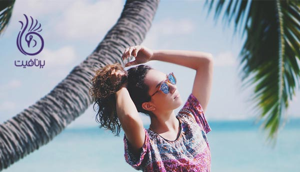 چگونه آسیب نور آفتاب بر پوست و مو را درمان کنیم؟ ، برنافیت