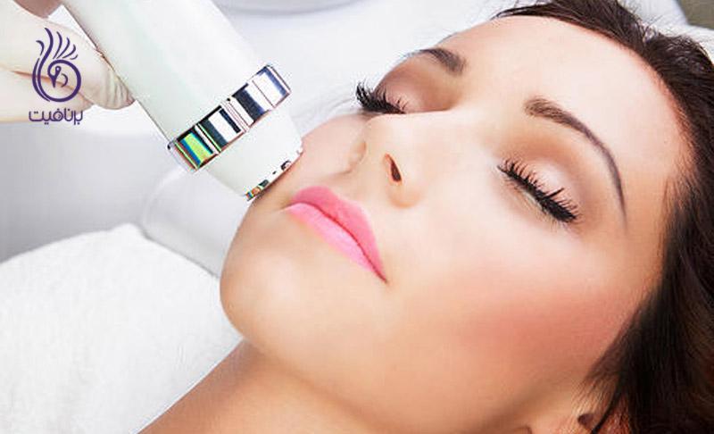 درمان افتادگی پوست با فرکانس رادیویی