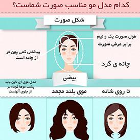 کدام مدل مو مناسب صورت شماست؟