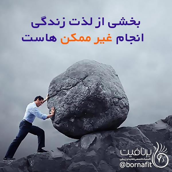 لذت زندگی انجام غیر ممکن هاست