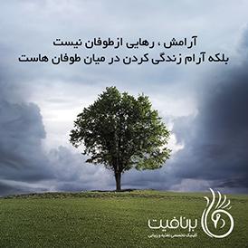 آرامش رهایی از طوفان نیست