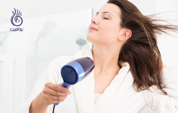 شستن روزانه ی موها - سشوار - برنافیت