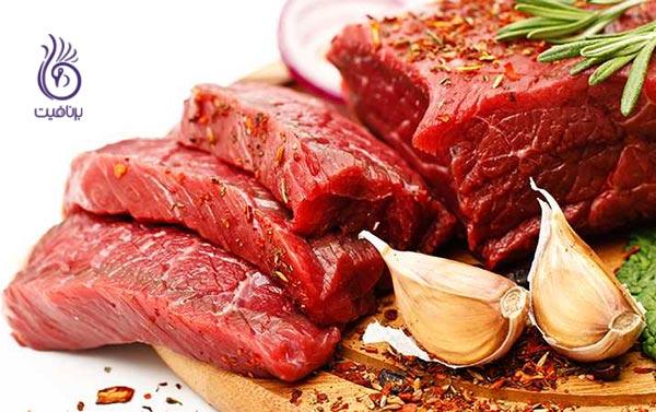 غذاهایی برای پیشگیری از کمبود آهن - گوشت - برنافیت