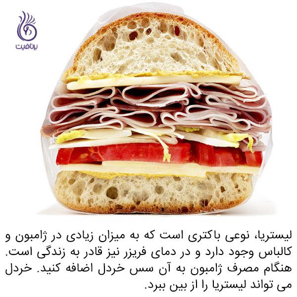 میکروب ها اغلب در چه غذاهایی پنهان می شوند - ساندویچ