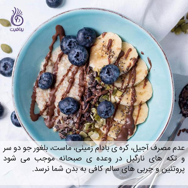 با خوردن وعده ی صبحانه گرسنه هستید - سالاد میوه - برنافیت