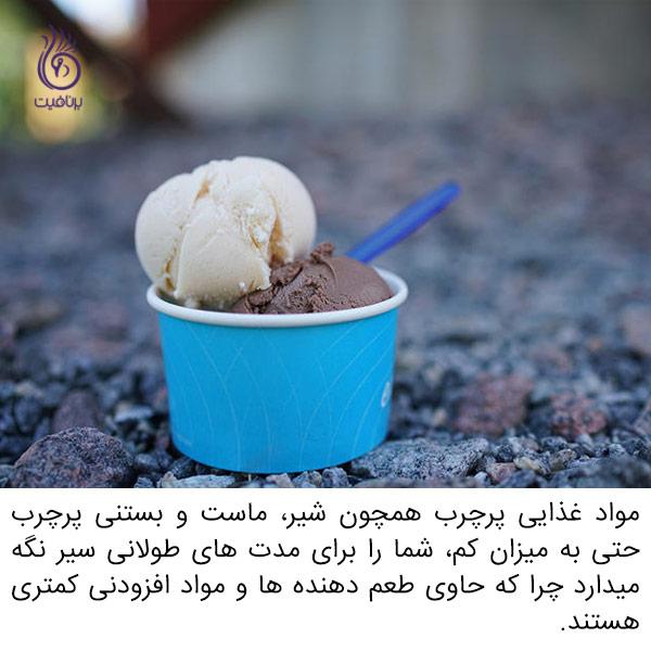 مواد غذایی کم چرب - بستنی - برنافیت
