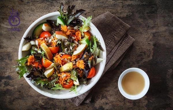 8 اشتباه غذایی - سالاد سبزیجات - برنافیت