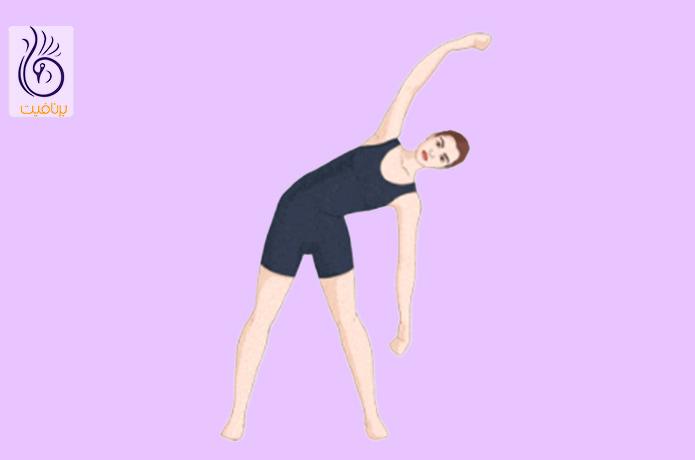کشش بازو، ساق پا و تنه و پیاده روی