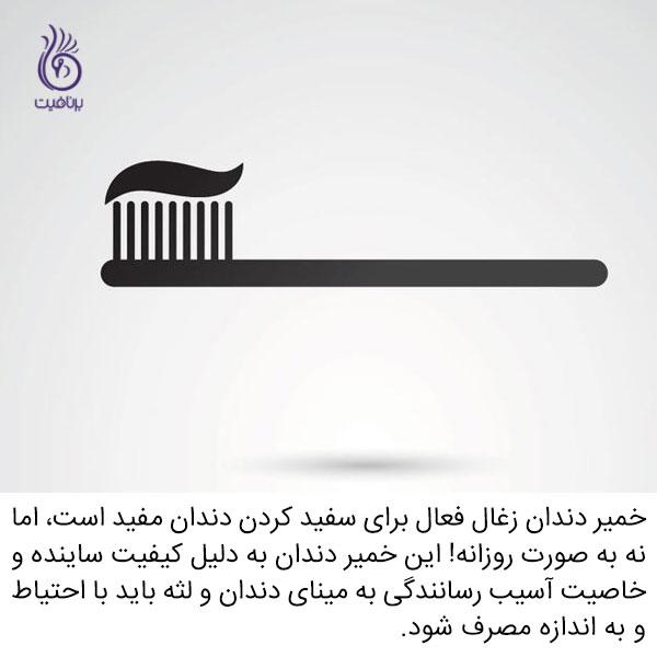 زغال چوب فعال - خمیر دندان - برنافیت