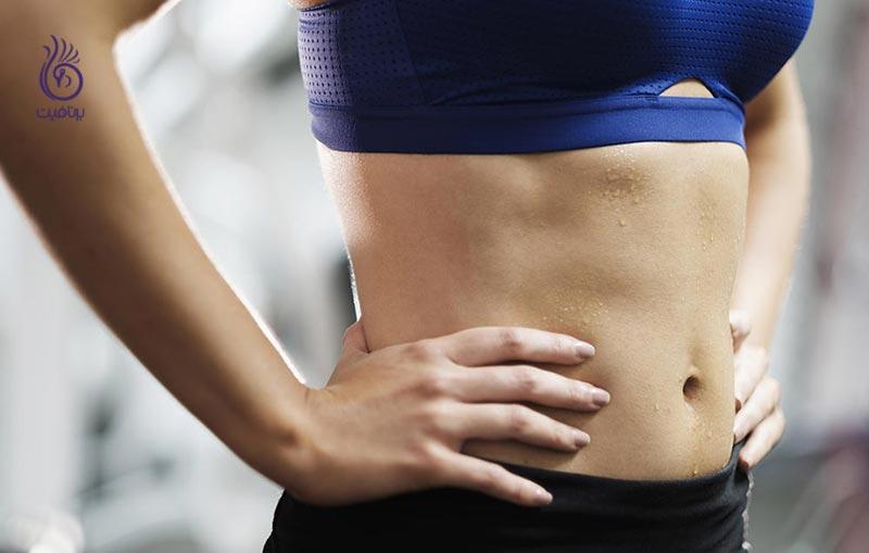 تمرین های ورزشی برای سوزاندن چربی های شکم - برنافیت