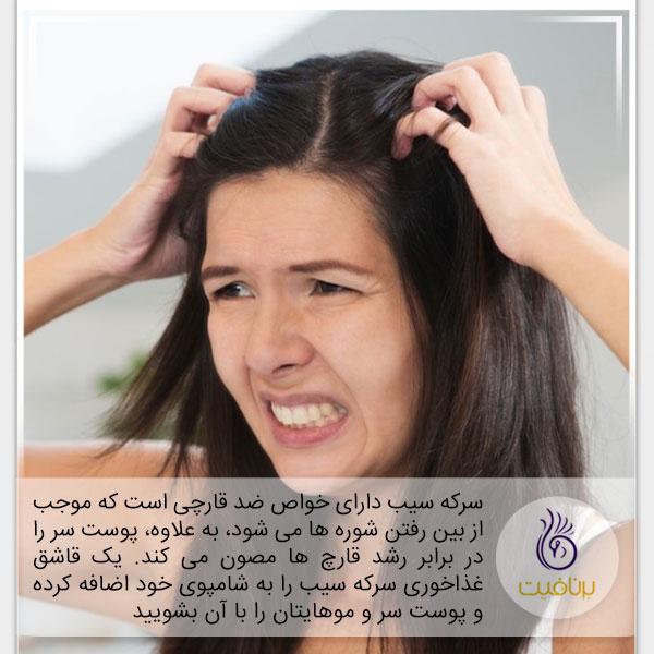 کاربرد سرکه سیب در زیبایی پوست و مو - برنافیت
