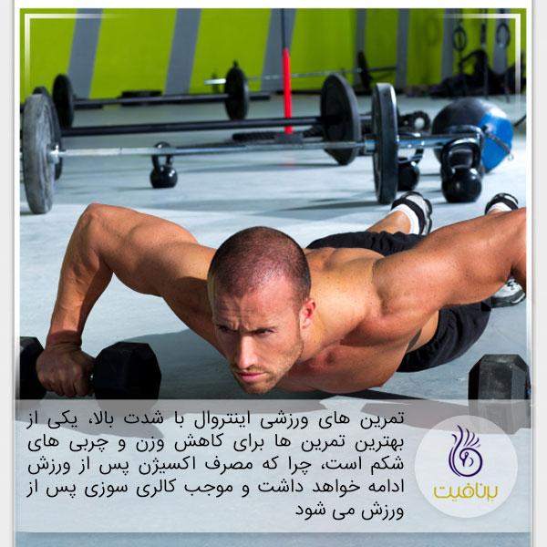 3 تمرین ورزشی که چربی های شکم را نابود می کنند - اینتروال - برنافیت