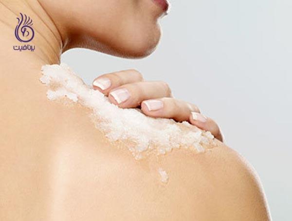 کاربردهای جوش شیرین در زیبایی - اسکراب بدن - برنافیت