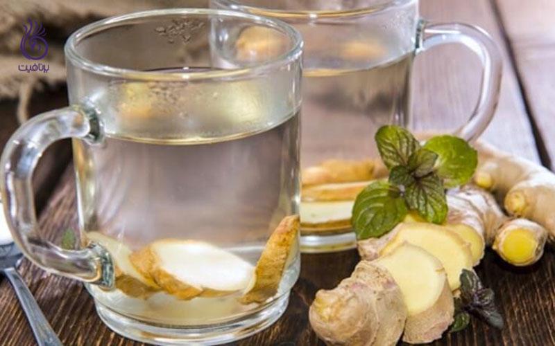 چربی شکم را با آب زنجبیل از بین ببرید - برنافیت
