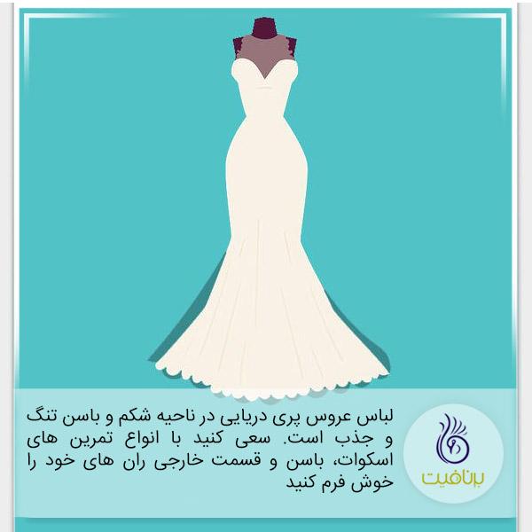تمرین ورزشی مناسب برای پوشیدن انواع لباس عروس - برنافیت