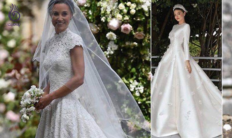 زیباترین لباس عروس هنر پیشه های هالیوودی - برنافیت