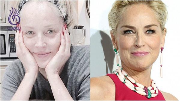 چهره بدون آرایش - شارون استون - برنافیت