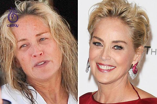 چهره ی بدون آرایش هنر پیشه های معروف - برنافیت