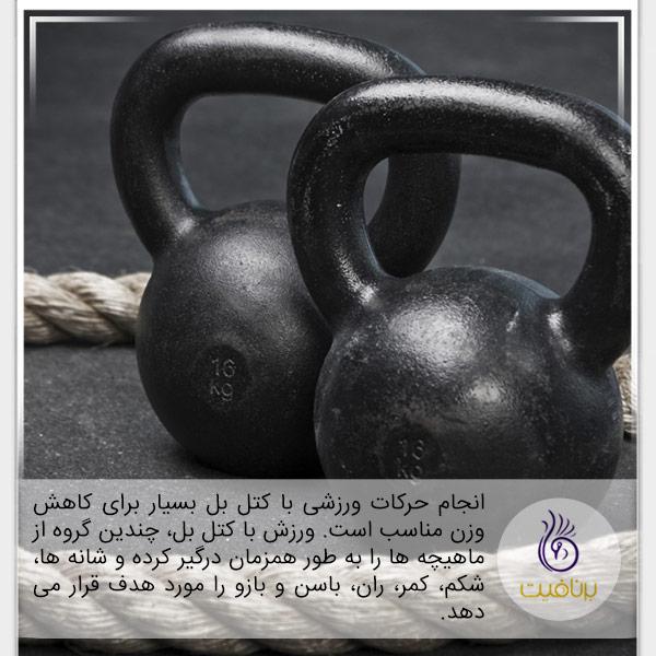 با ورزش لاغر شوید - کتل بل - برنافیت