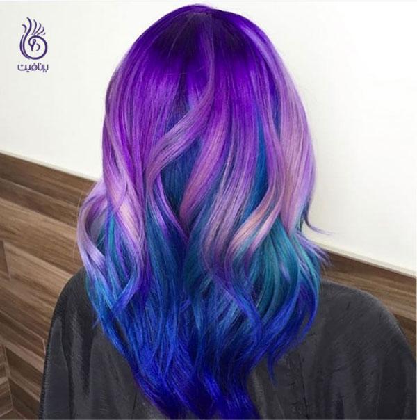 رنگ موی پر طاووسی- زیبایی- برنافیت