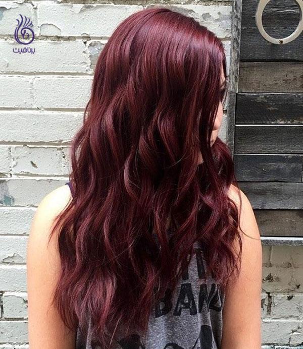 رنگ موی ماهاگونی- زیبایی- برنافیت
