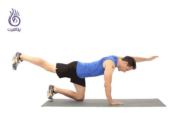 ورزش و تناسب اندام- حرکت مانتین کلایمر- برنافیت