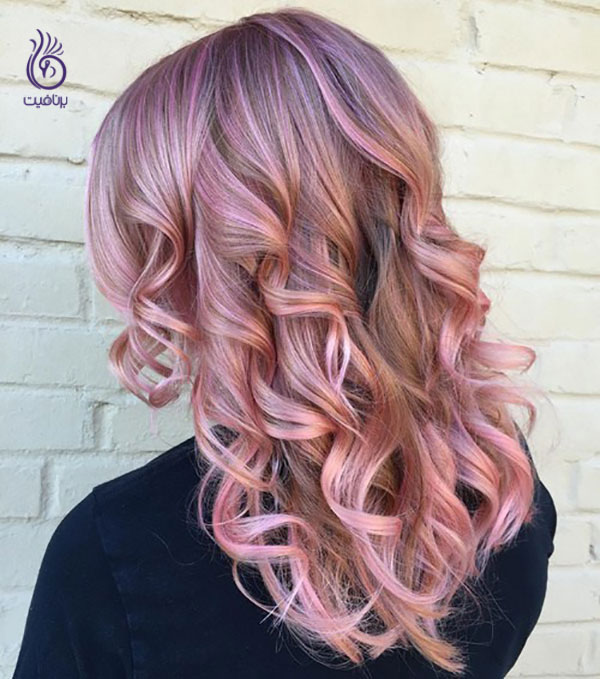 pastel lavender hair color with pink highlights رنگ موهای زمستانه