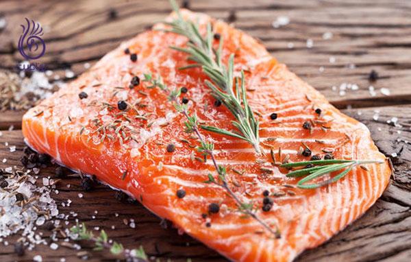 غذاهای رژیمی- سالمون- برنافیت