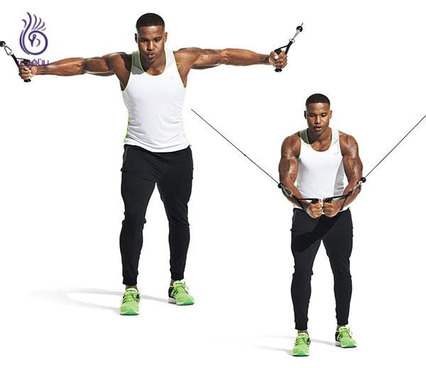 فلای عضلات پکتورال- ورزش و تناسب اندام- برنافیت