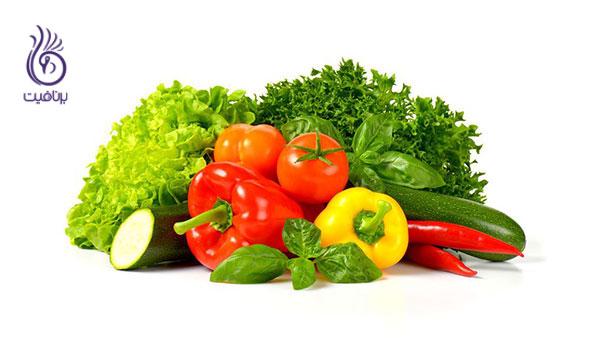 آب کردن چربی شکم- سبزیجات- برنافیت
