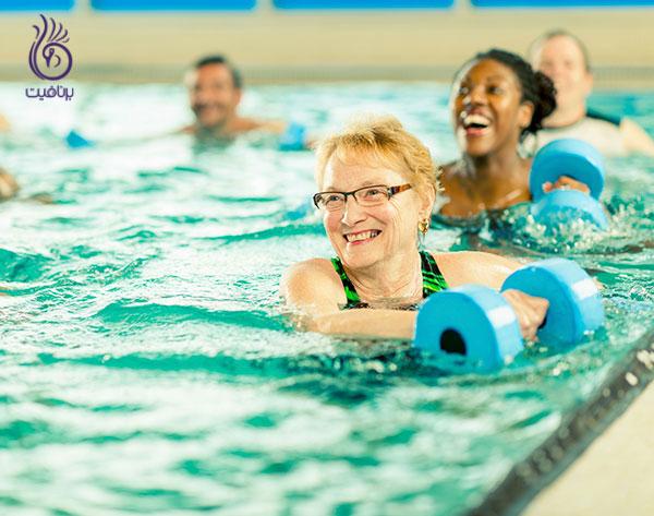 ورزش های آبی- ایروبیک در آب- برنافیت