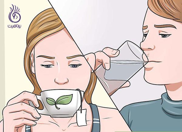 اشتهای کاذب- نوشیدن چای- برنافیت