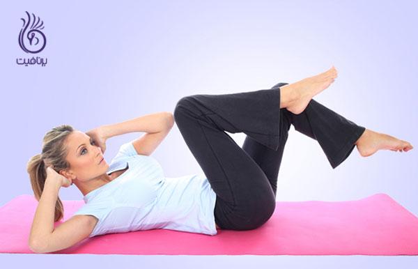 از بین بردن چربی های پهلو- ورزش- برنافیت