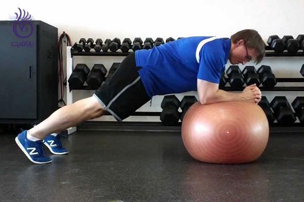 حرکات شکم- Ball push away- برنافیت