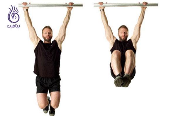 حرکات شکم- Hanging knee raise- برنافیت