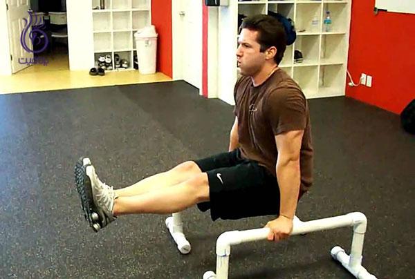 حرکات شکم- L sit- برنافیت