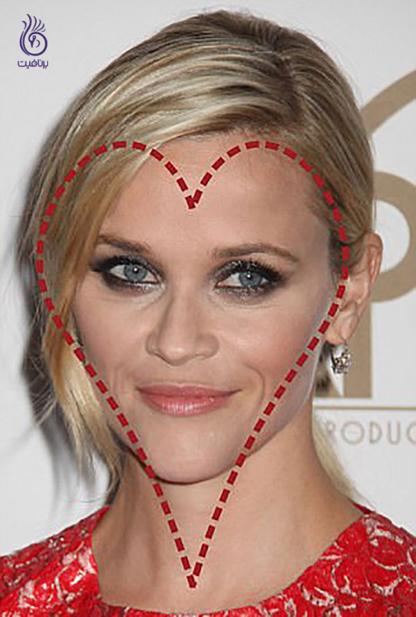 شکل صورت قلبی- ریس ویترسپون- برنافیت