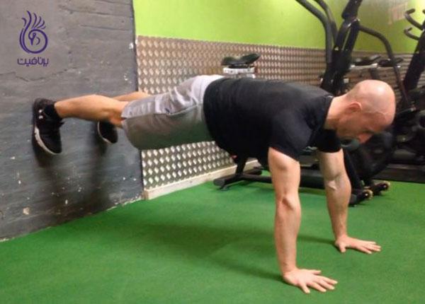 حرکات شکم- Wall plank- برنافیت