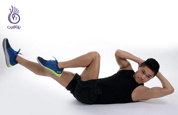 لاغری شکم- حرکت دوچرخه- برنافیت
