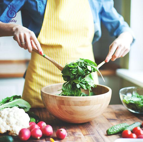 لاغری اصولی- سبزیجات تازه- برنافیت دکتر کرمانی