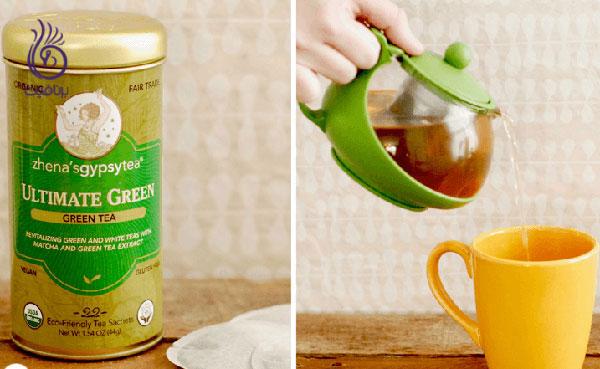 درمان ریزش مو- چای سبز- برنافیت