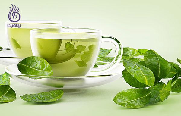 غذاهای ضد سلولیت- چای سبز- برنافیت