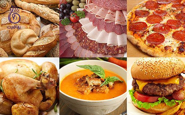 از بین بردن غبغب- قطع مصرف غذاهای شور- برنافیت