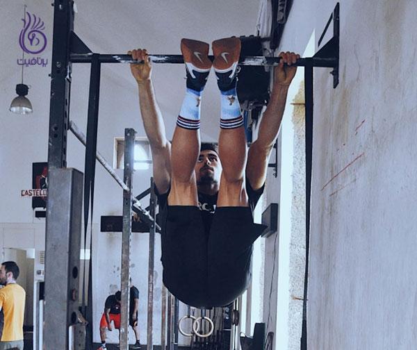 حرکات شکم- strict toes to bar- برنافیت