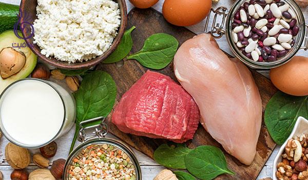 از بین بردن غبغب- غذاهای حاوی پروتئین- برنافیت